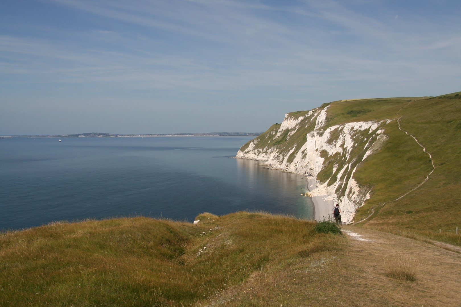 Coast path towards Weymouth.