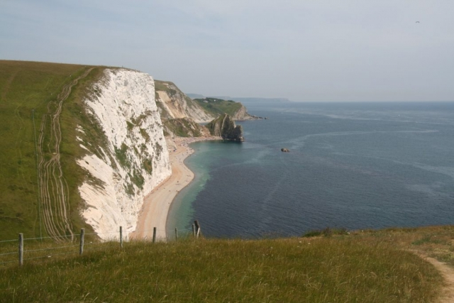 Durdle Door on the way back. It's very busy now!
