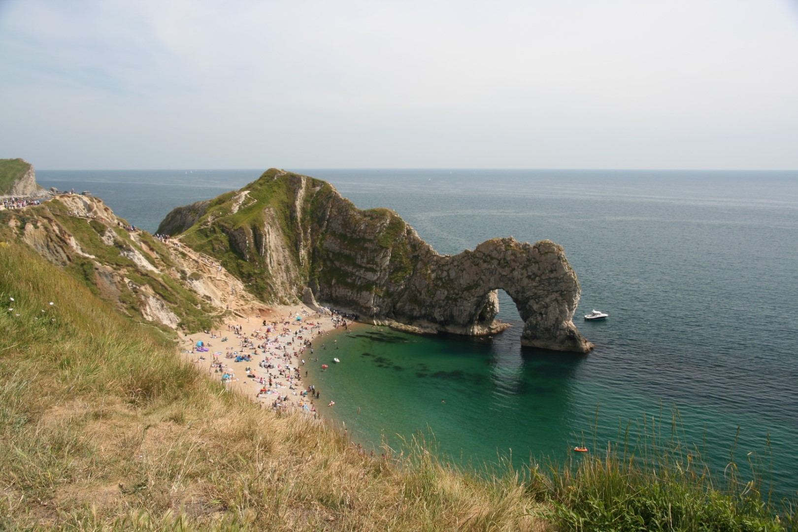 Durdle Door on a summer afternoon.