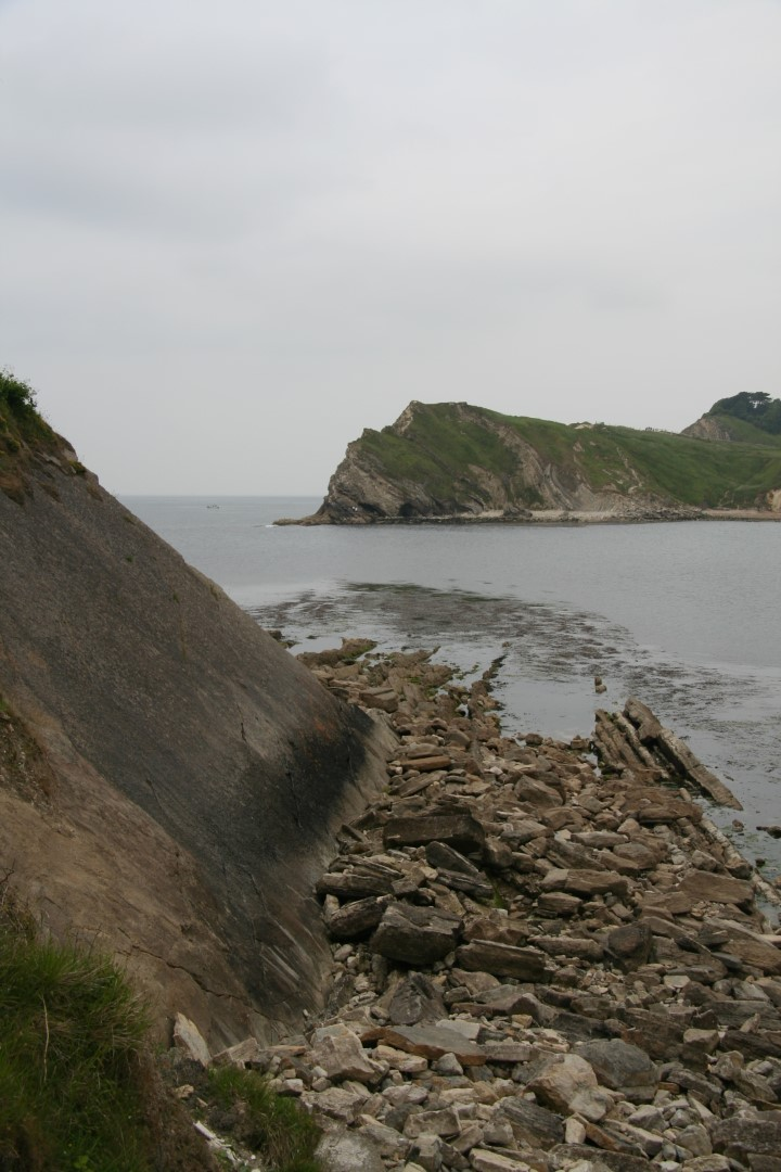 Entrance to Lulworth Cove.