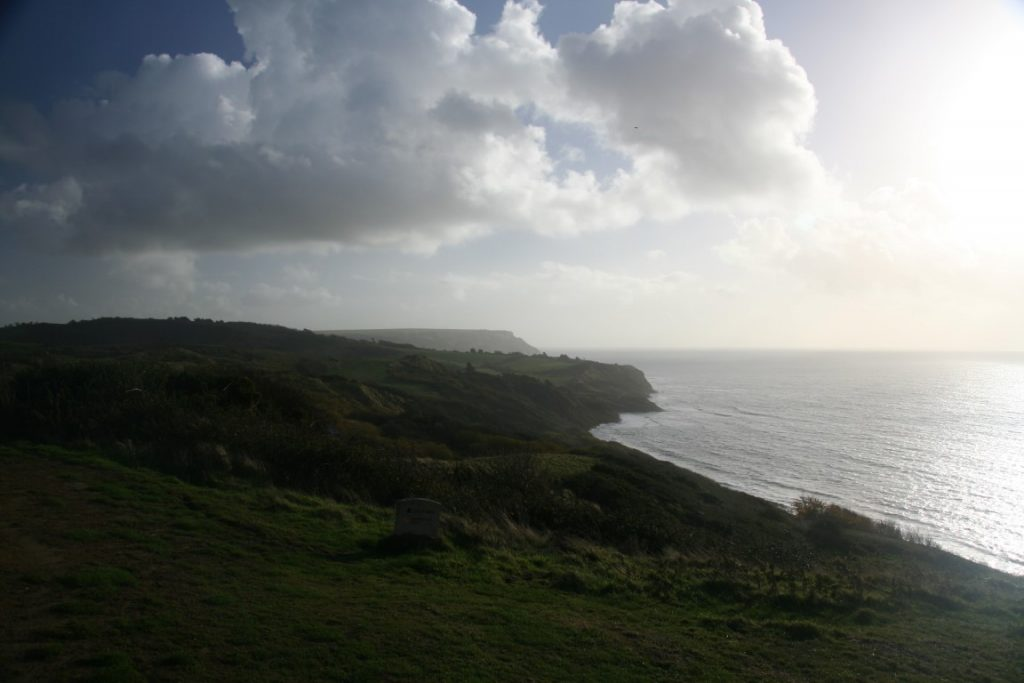 It wasn't all rain - Looking back towards Ringstead again.