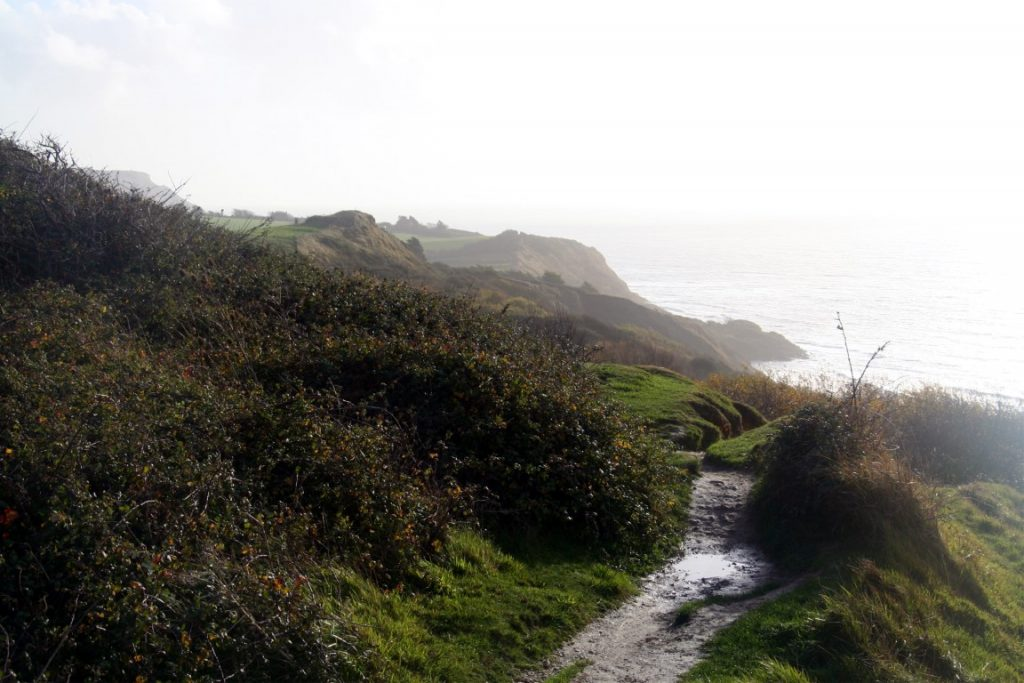 View back towards Ringstead - not all cliffs are smooth and undulating.