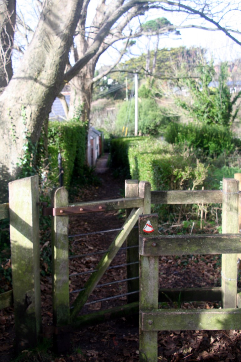 A typical gate on the coast path.
