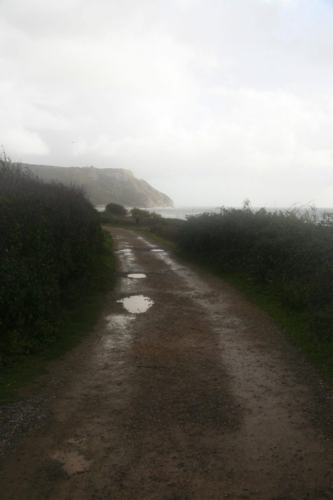 Looking back towards Ringstead.