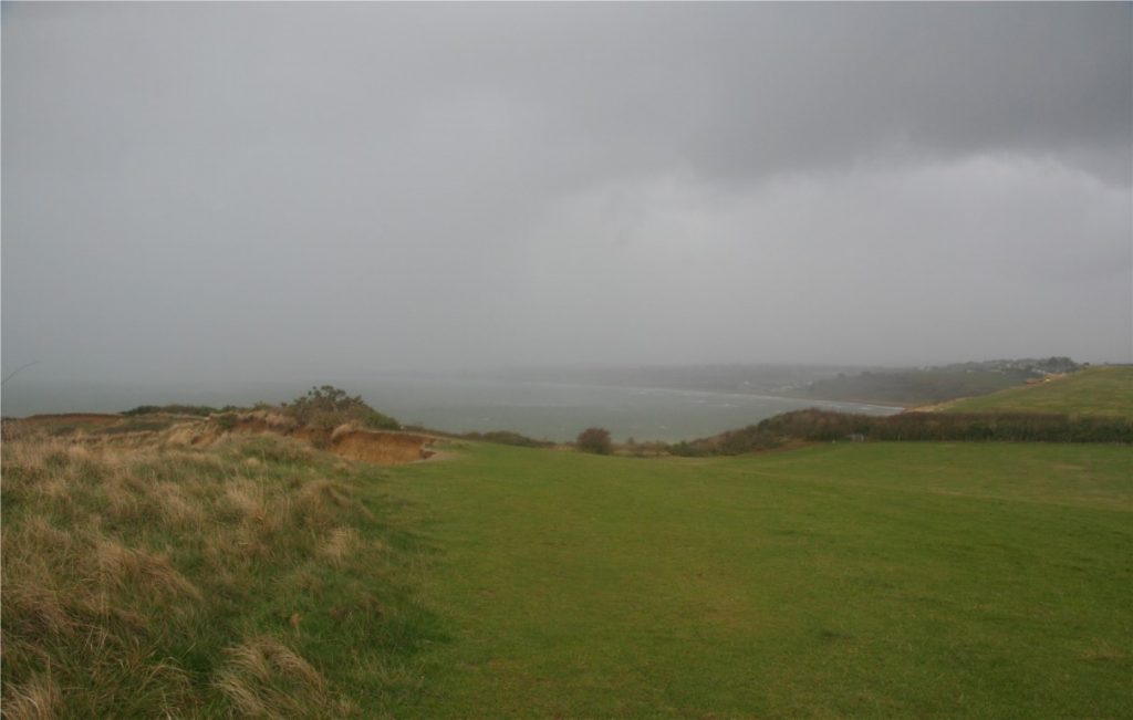 Looking out towards Weymouth - we're going to get wet any minute now!