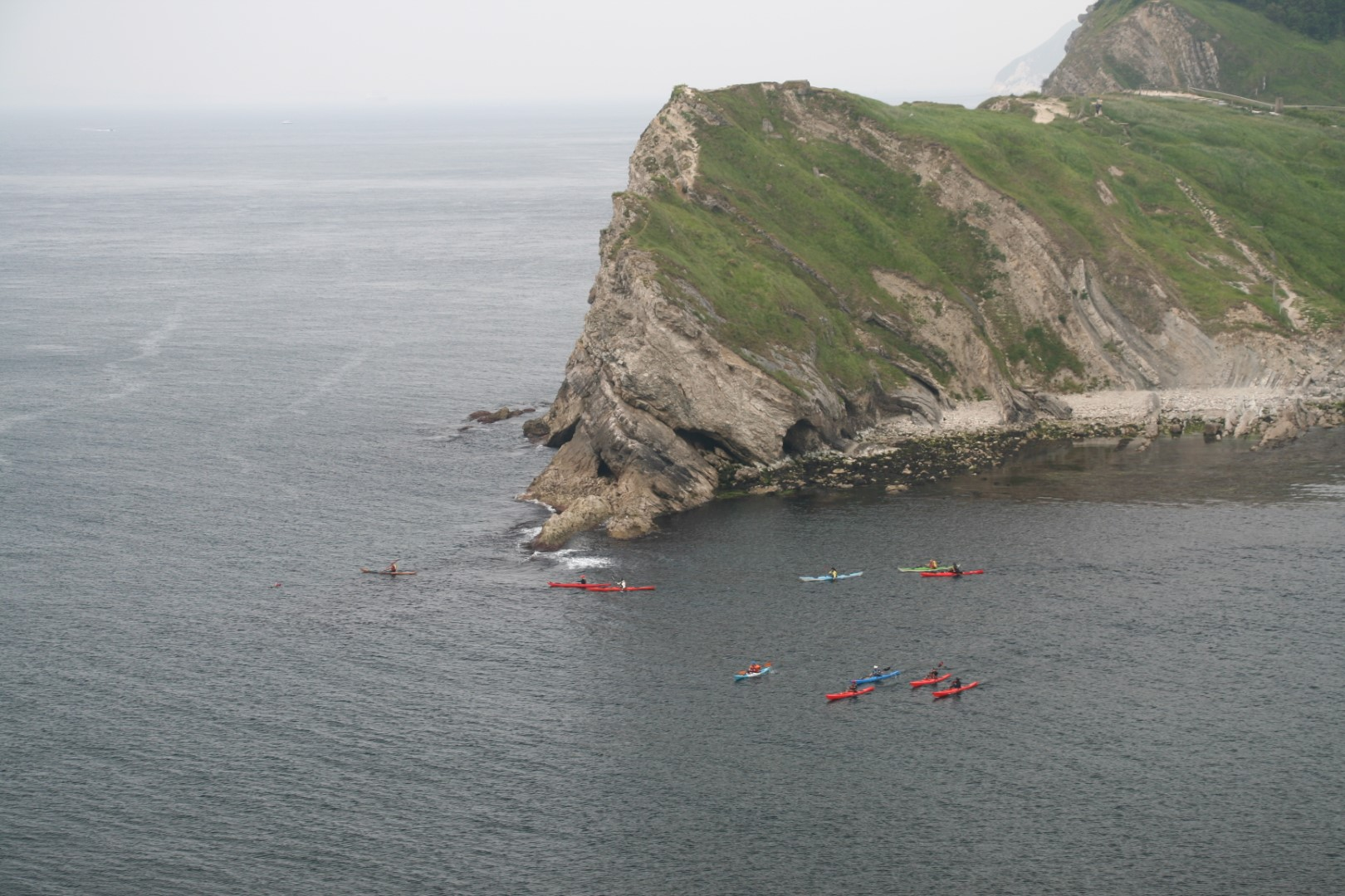 Kayakers heading out.