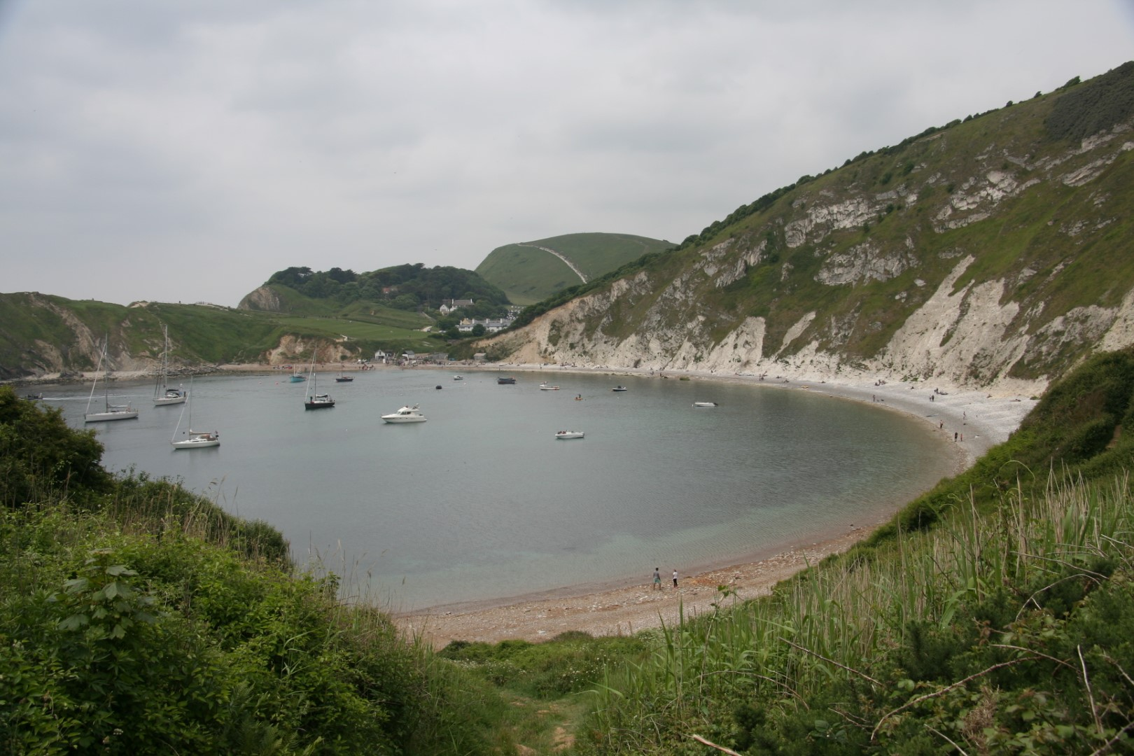 Lulworth Cove close up.