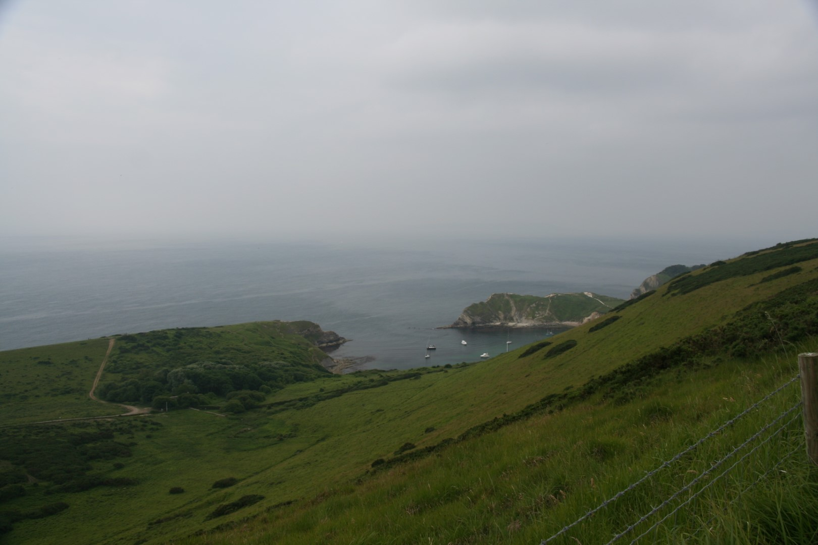 Lulworth Cove from a different angle.