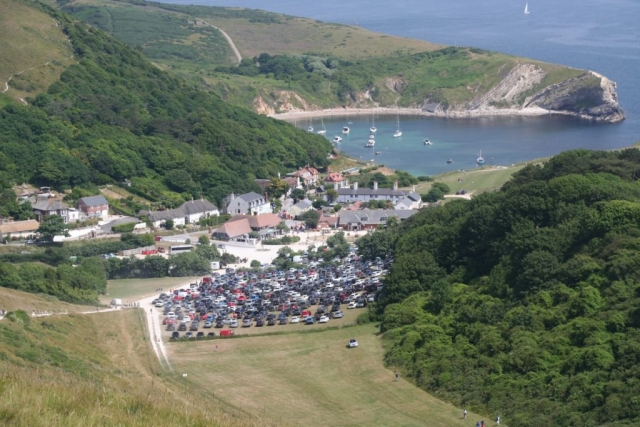 Lulworth carpark - much busier now