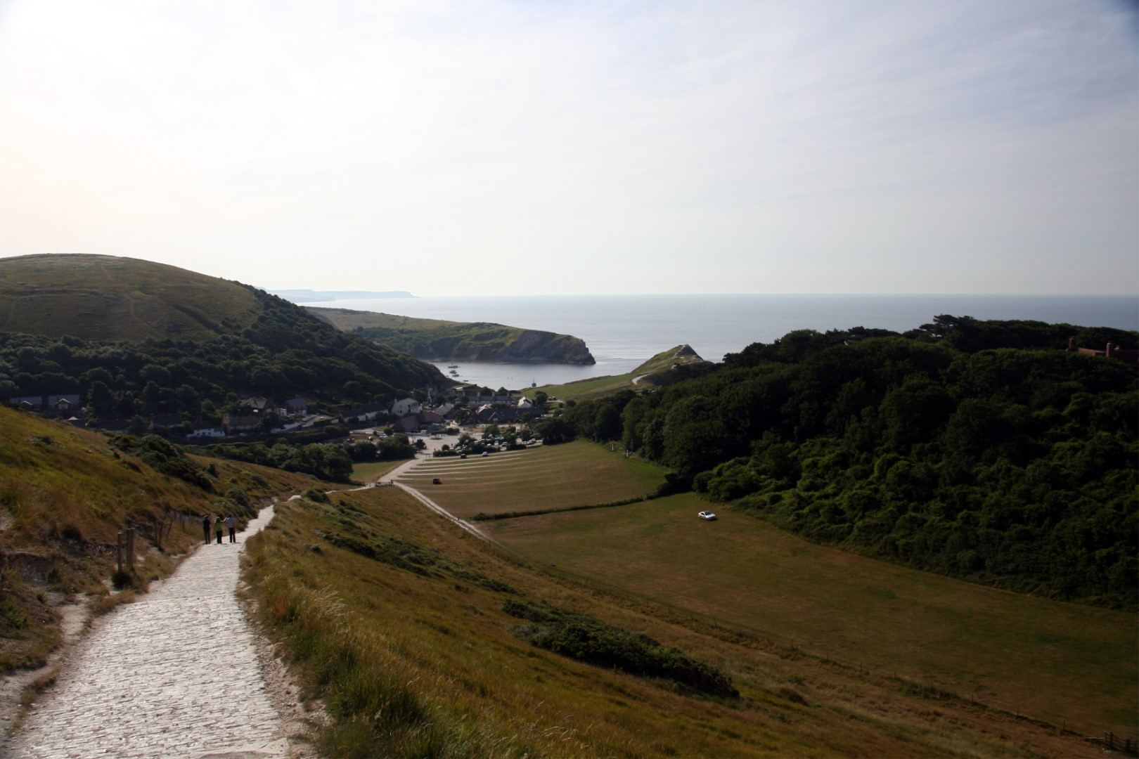 Lulworth from above.
