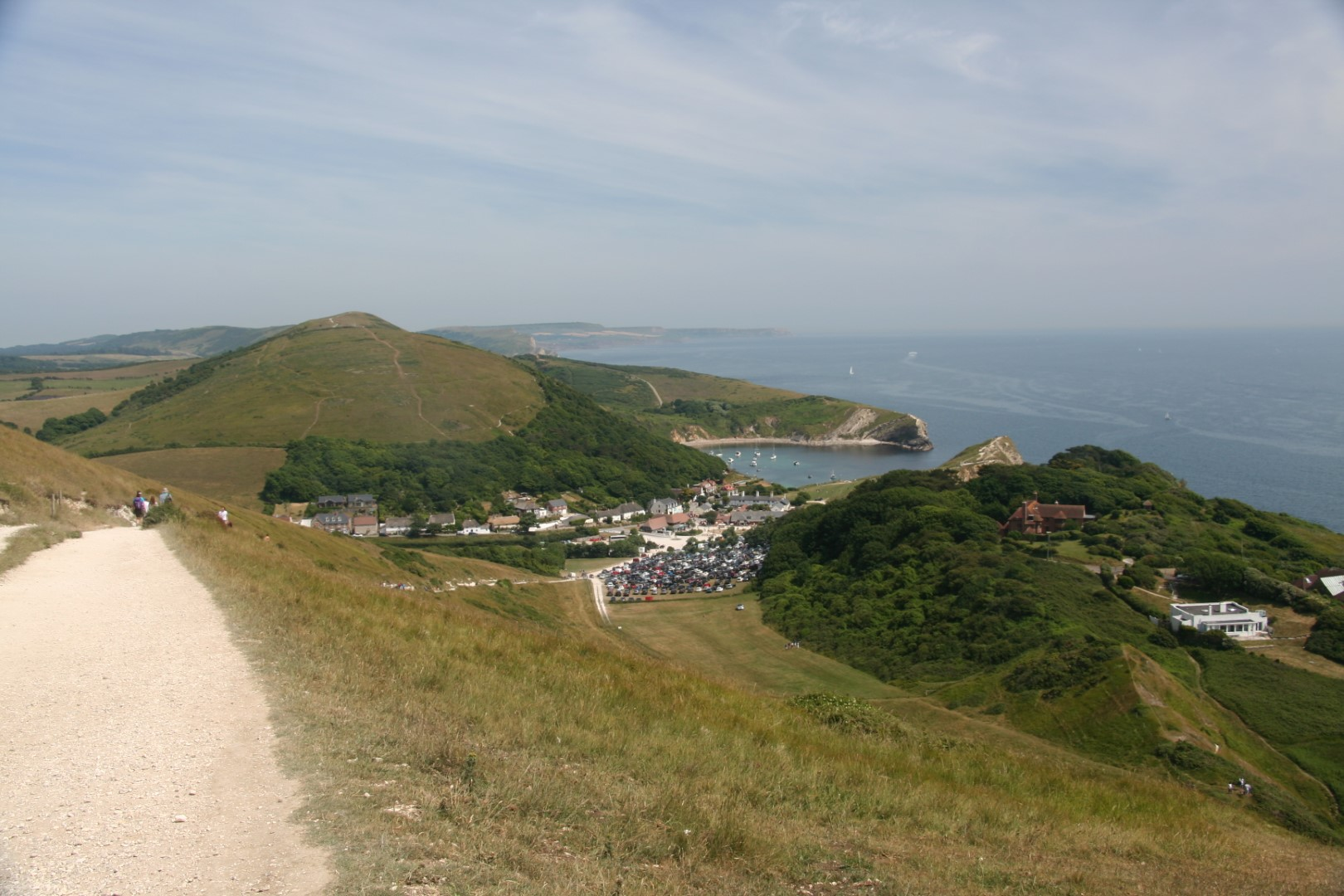 Lulworth on the way back with a view all the way to Kimmeridge.