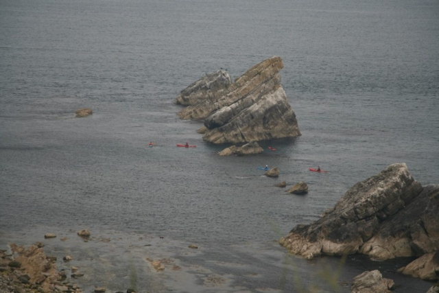 Kayakers near Mupe Rocks.