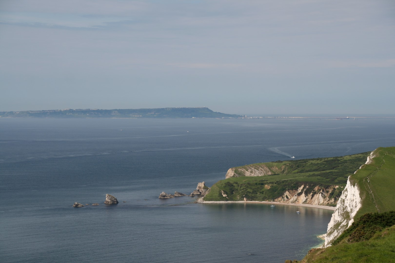 Mupe Rocks with the entrance to Lulworth Cove