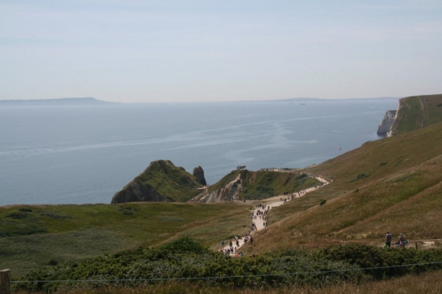 On the way from Durdle Door to Lulworth in the afternoon.