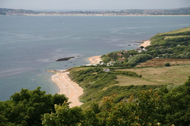 Ringstead with Weymouth in the background.