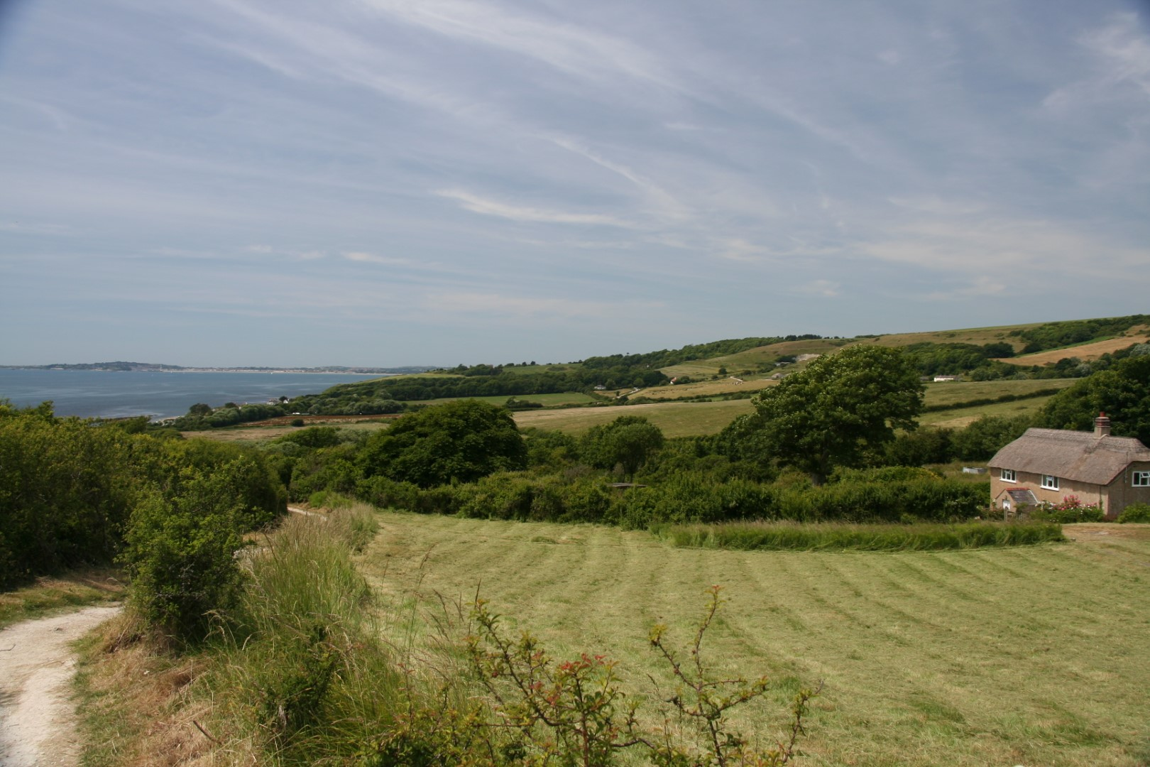 Slow descent towards Ringstead.
