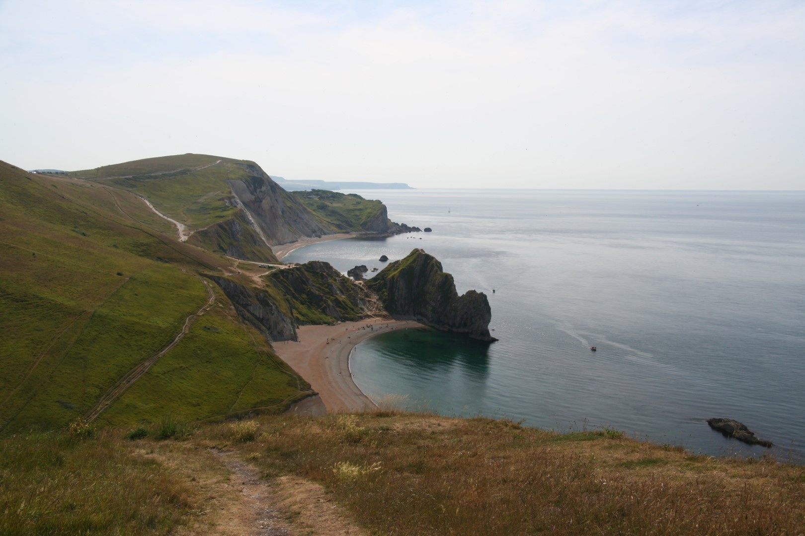 The coast path almost all the way back to Lulworth Cove - where else do you get views like this!