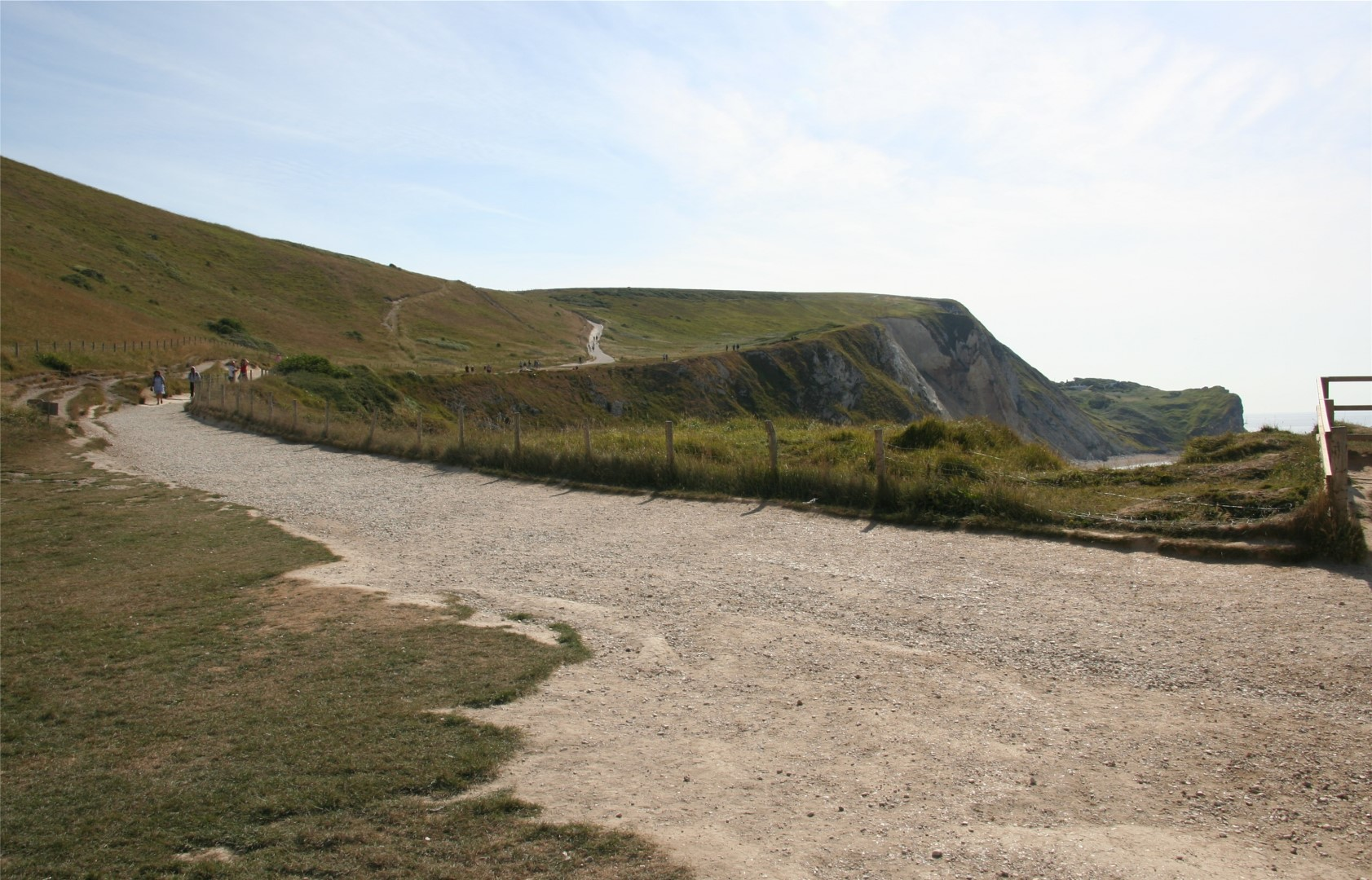 The official path from Lulworth if you don't walk along the beach