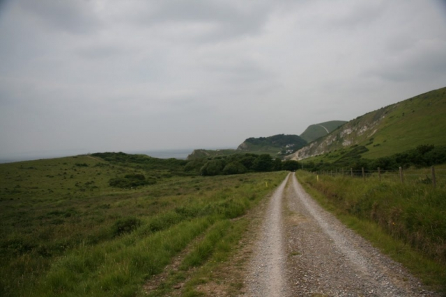 The road back to Lulworth Cove.