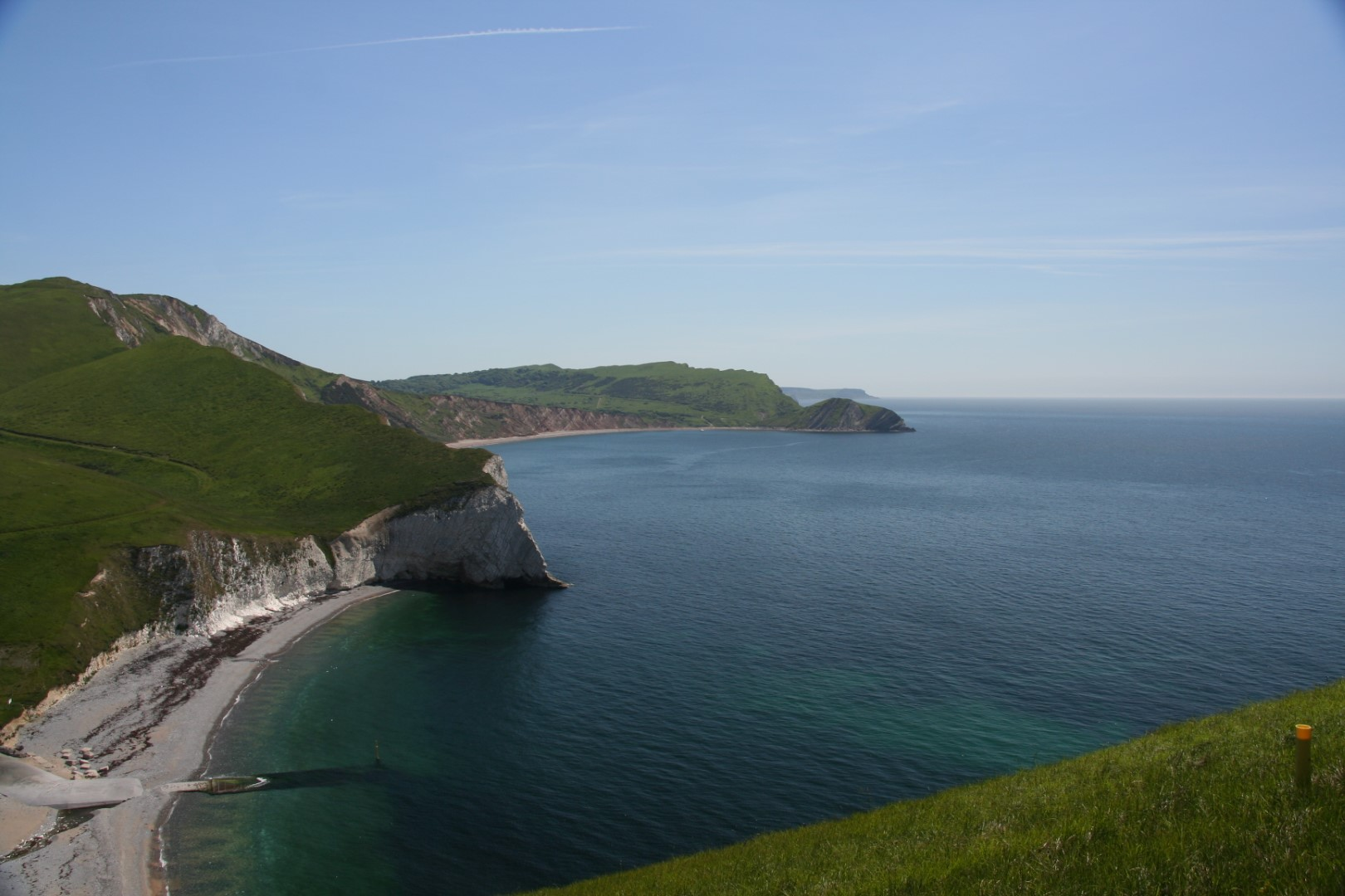 View all the way back - the sea is this clear in summer!