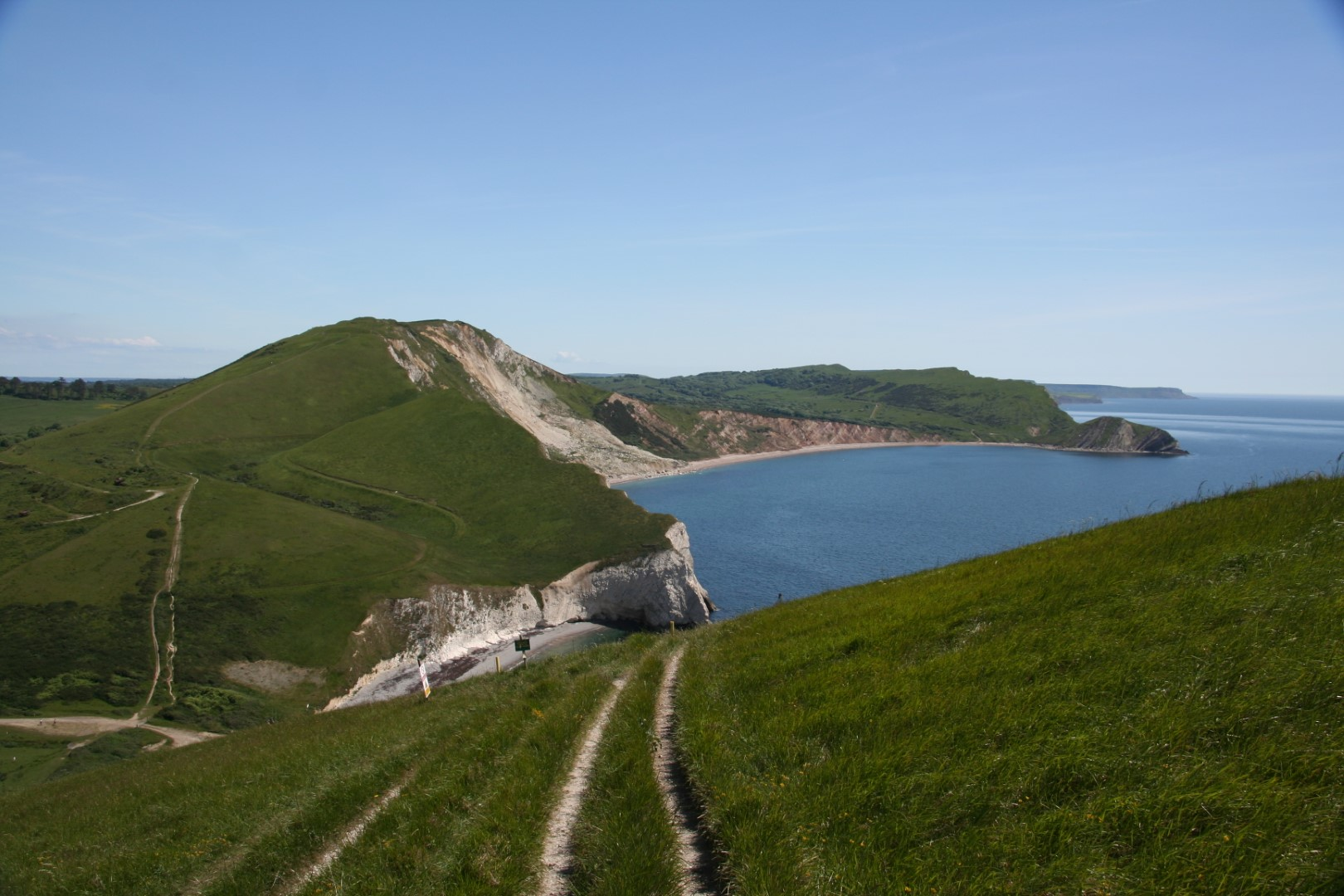 View of the coast path on the way back.